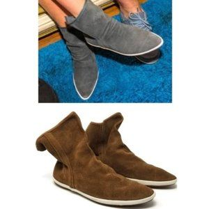 Sanuk Suede Kat Sphynx Luxe Slouch Ankle Boot 7.5